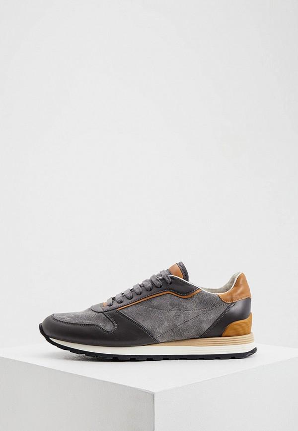 мужские низкие кроссовки brunello cucinelli, серые