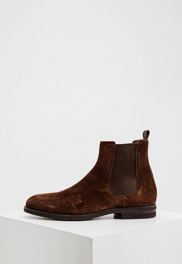 мужские ботинки-челси brunello cucinelli, коричневые