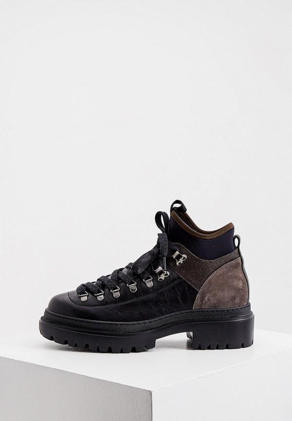 женские высокие ботинки brunello cucinelli, черные