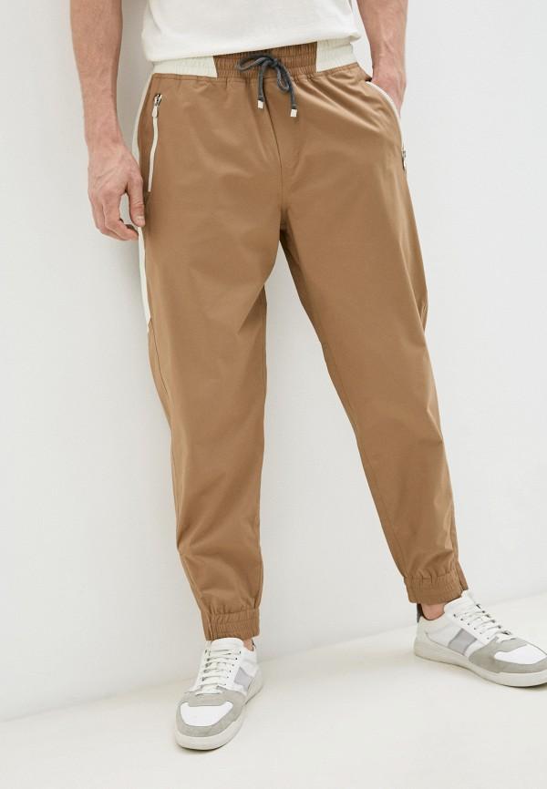 мужские спортивные брюки brunello cucinelli, бежевые