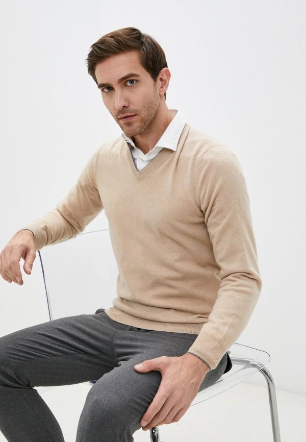 мужской пуловер brunello cucinelli, бежевый