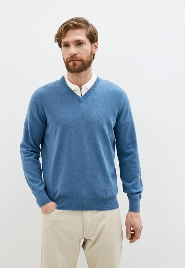 мужской пуловер brunello cucinelli, синий