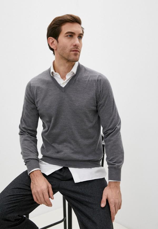 мужской пуловер brunello cucinelli, серый