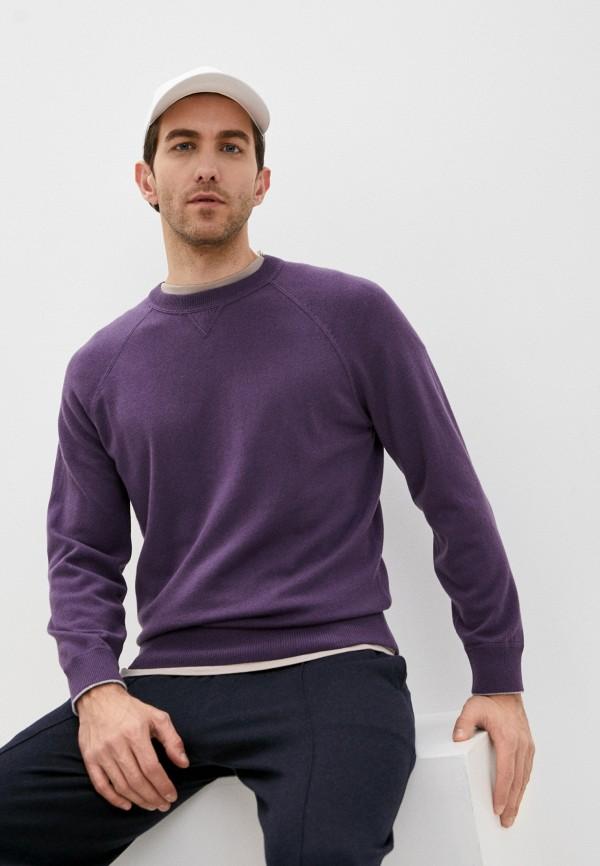 мужской джемпер brunello cucinelli, фиолетовый