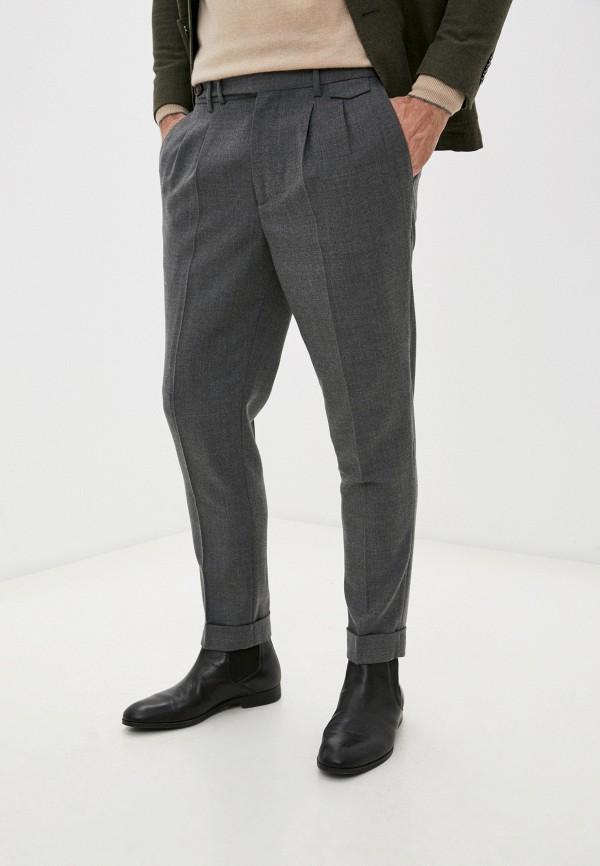 мужские зауженные брюки brunello cucinelli, серые