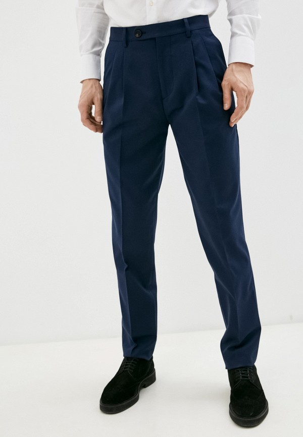 мужские классические брюки brunello cucinelli, синие
