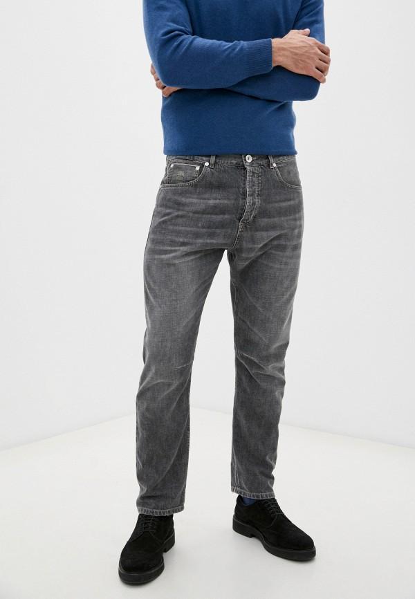 мужские прямые джинсы brunello cucinelli, серые