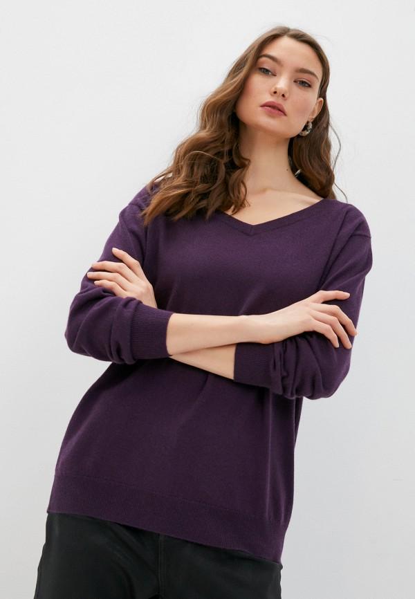 женский пуловер brunello cucinelli, фиолетовый