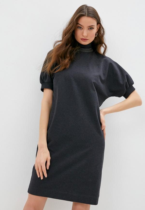 женское повседневные платье brunello cucinelli, серое
