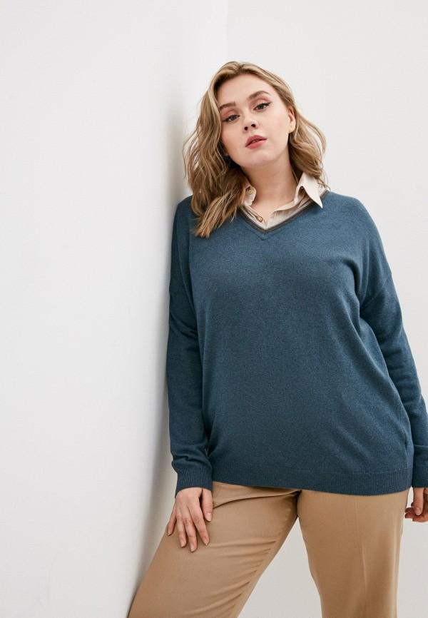 женский пуловер brunello cucinelli, синий