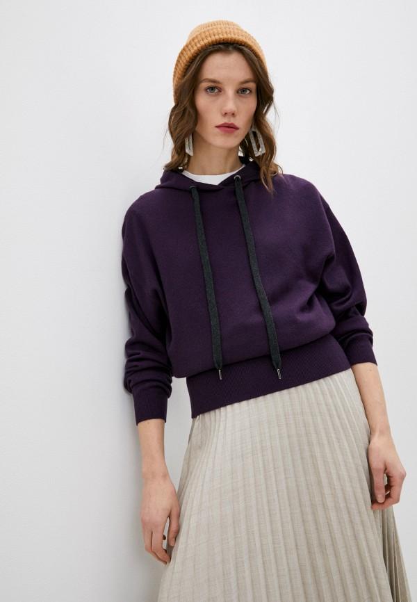 женский джемпер brunello cucinelli, фиолетовый