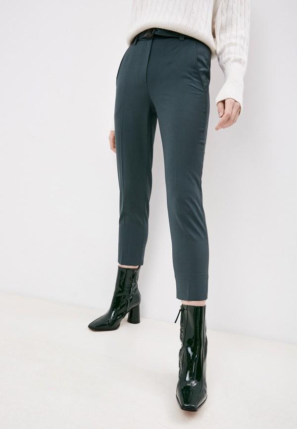 женские повседневные брюки brunello cucinelli, зеленые