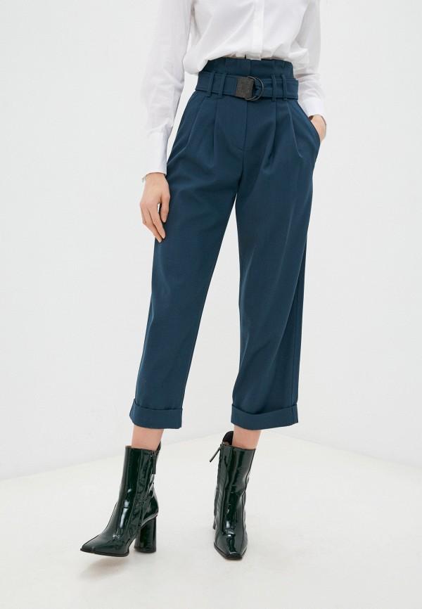 женские повседневные брюки brunello cucinelli, синие