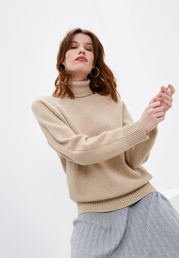 женский свитер brunello cucinelli, бежевый