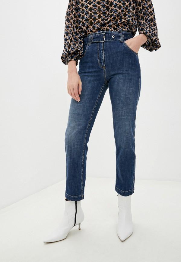 женские прямые джинсы brunello cucinelli, синие