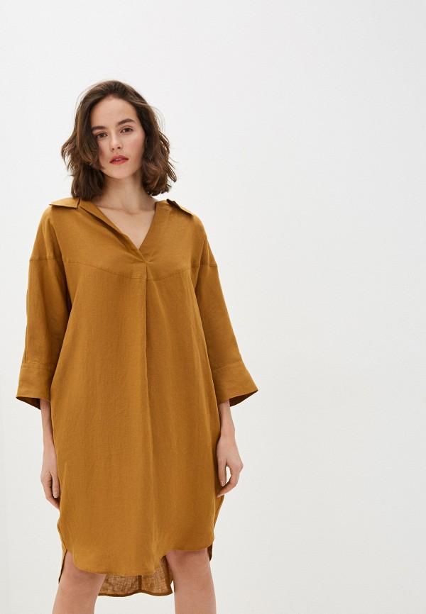 женское платье brian dales, бежевое
