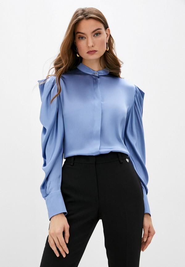женская блузка brian dales, голубая