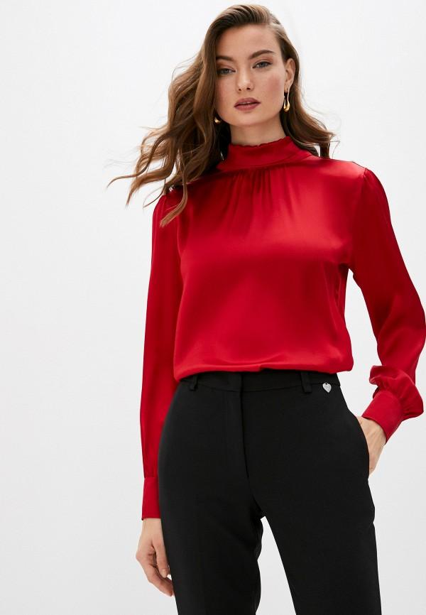 женская блузка brian dales, красная