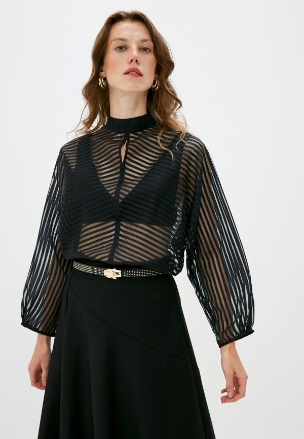 женская блузка brian dales, черная