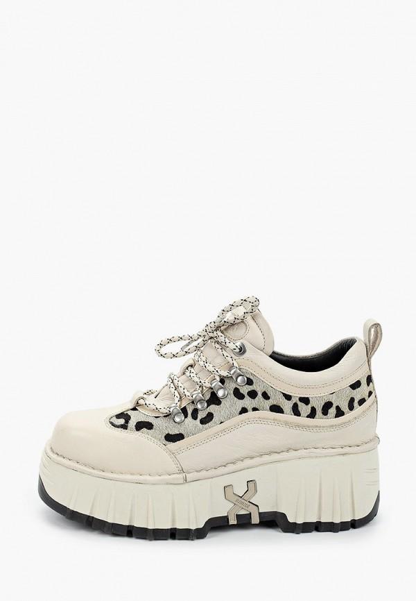 женские ботинки bronx, бежевые