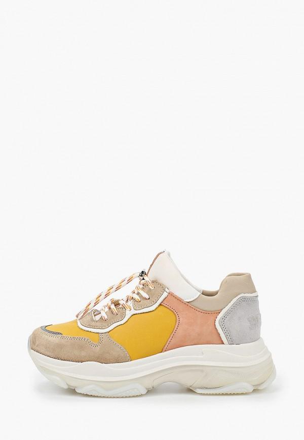 женские кроссовки bronx, желтые
