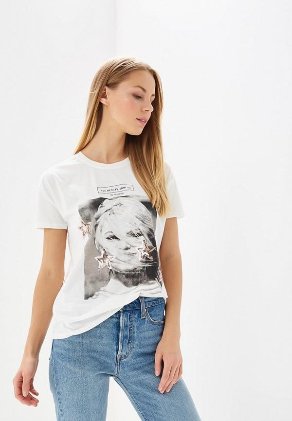 Футболка Brigitte Bardot Brigitte Bardot BR831EWAMKB0 tassel trim floral bardot top
