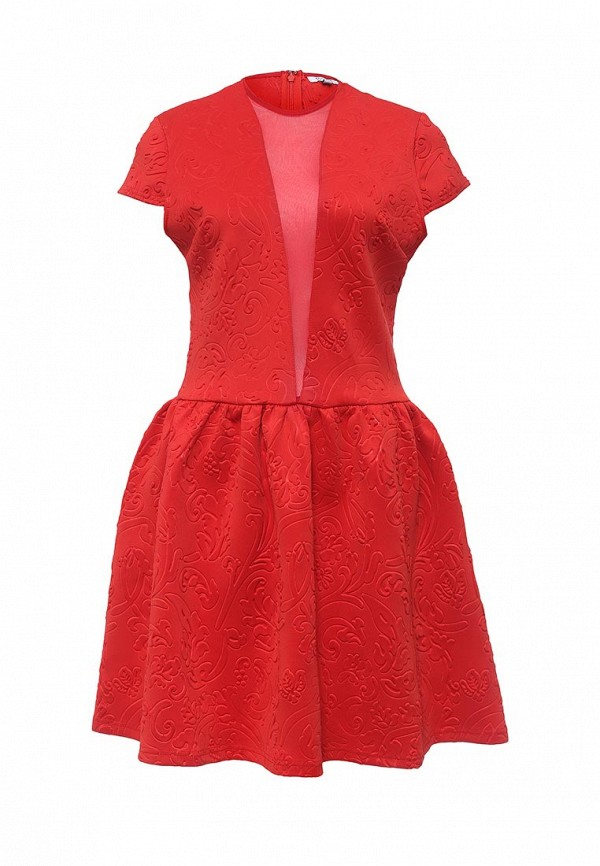 Платье Brigitte Bardot Brigitte Bardot BR831EWPNV34 bardot neckline scallop hem dress