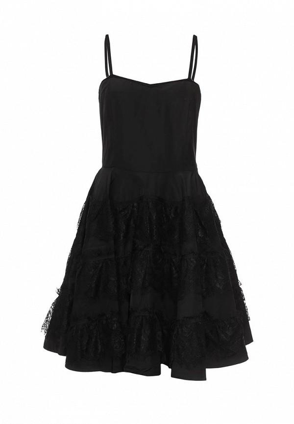Платье Brigitte Bardot Brigitte Bardot BR831EWPNV69 bardot neckline scallop hem dress