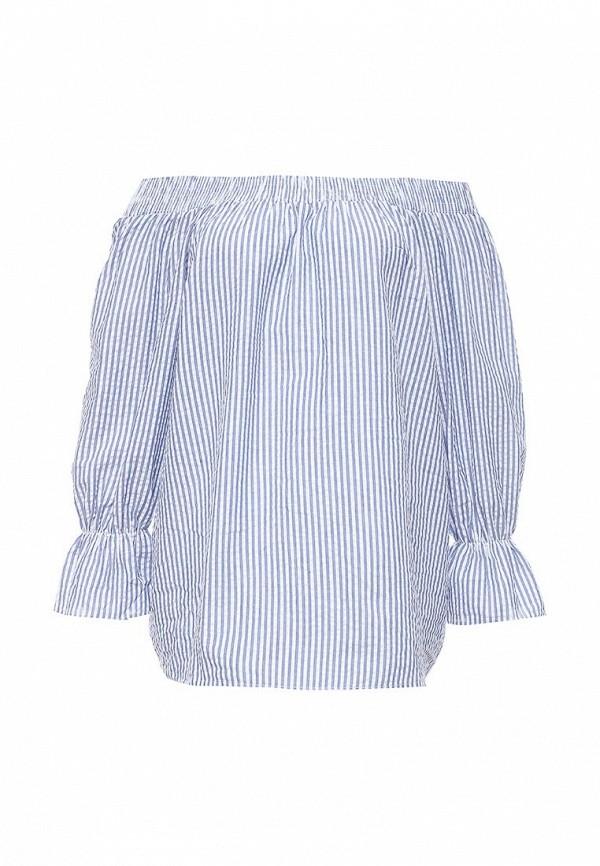 женская блузка brigitte bardot, голубая
