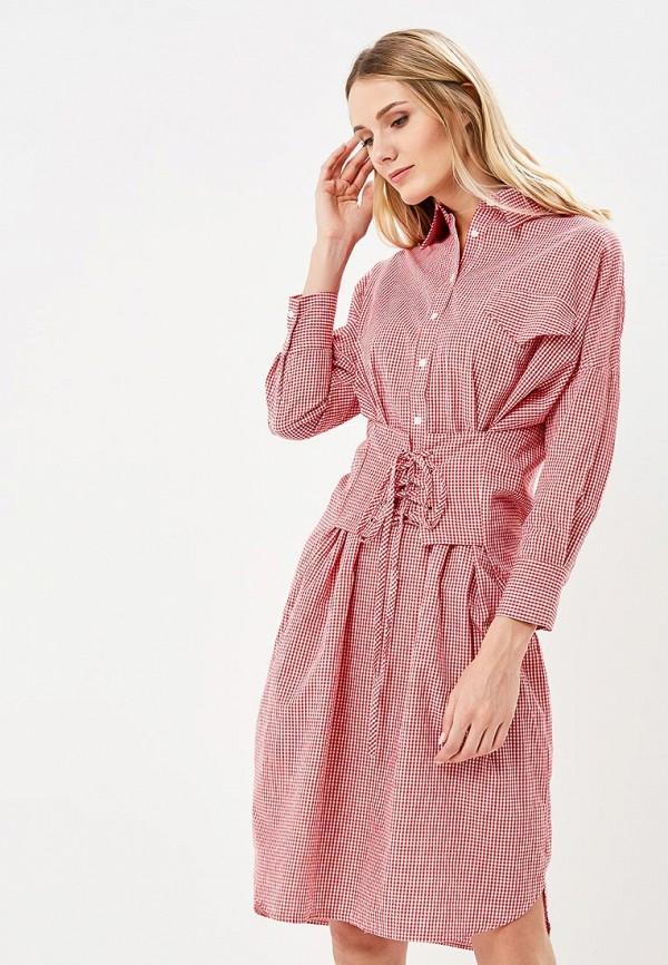 женское платье brigitte bardot, красное