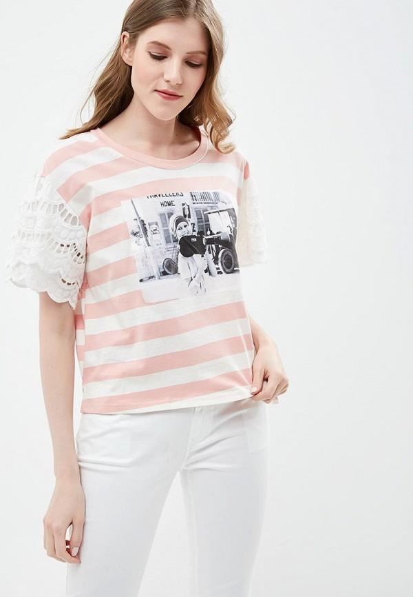 Фото - Футболка Brigitte Bardot Brigitte Bardot BR831EWZZH91 bardot neckline scallop hem dress