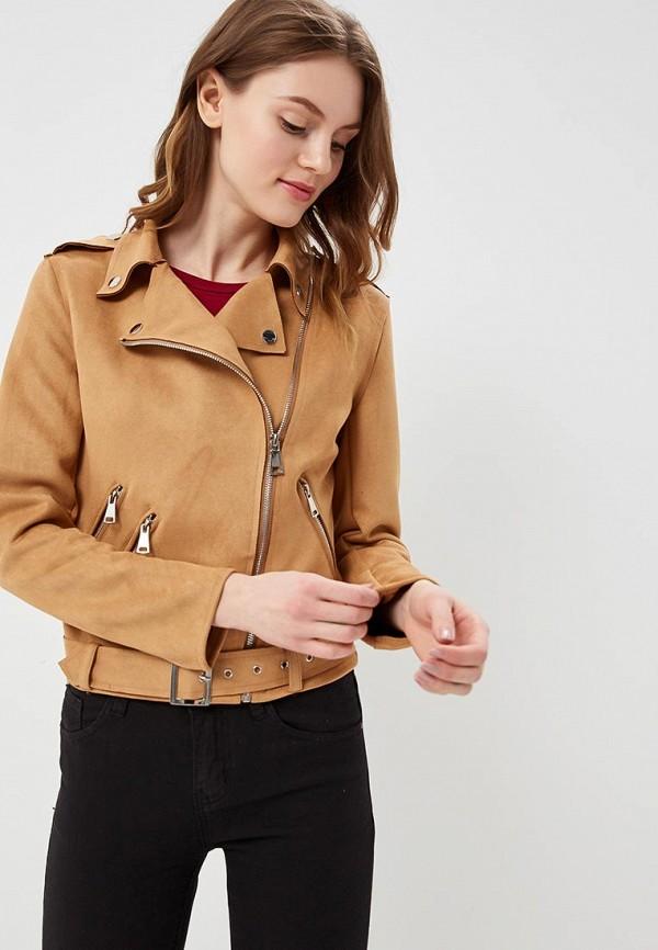 Купить Куртка кожаная B.Style, bs002ewartb2, коричневый, Весна-лето 2018