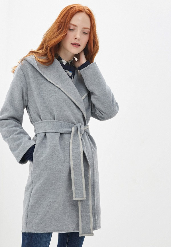 женское пальто b.style, серое