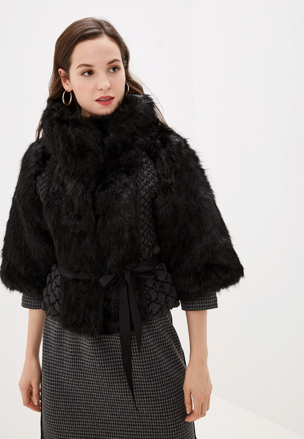 женская шуба b.style, черная