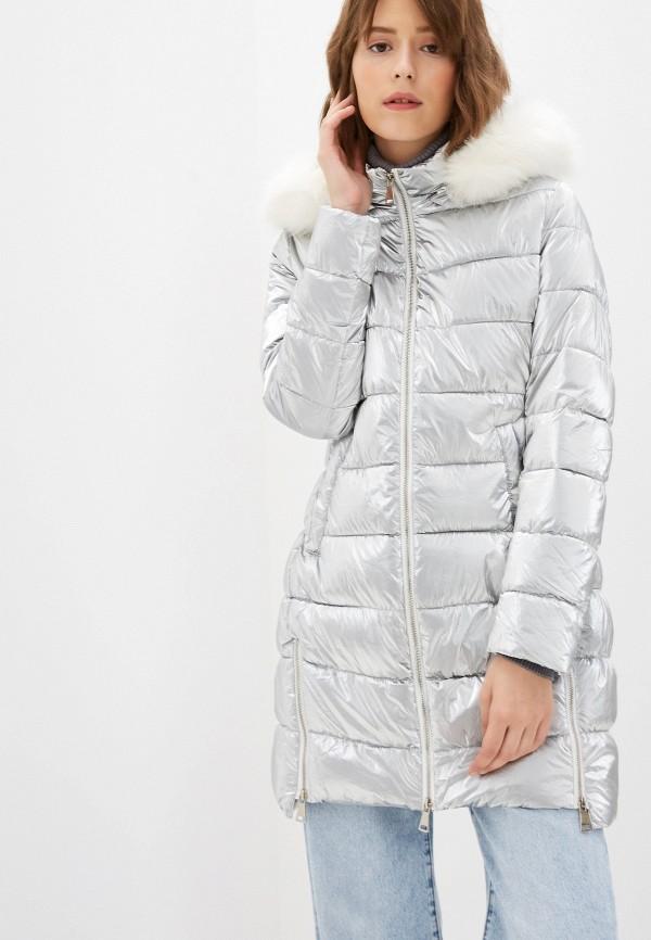 женская куртка b.style, серебряная