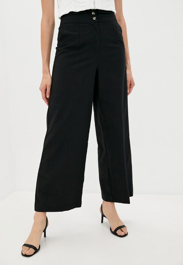 женские повседневные брюки b.style, черные