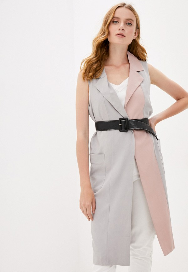 женский жилет b.style, серый