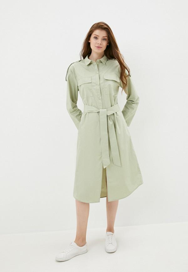женское платье b.style, зеленое