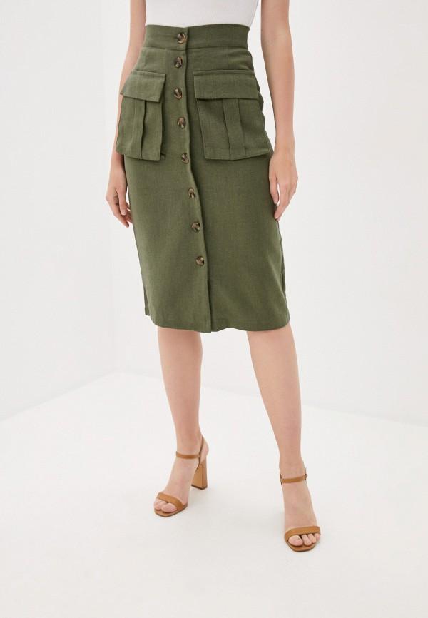 женская прямые юбка b.style, хаки