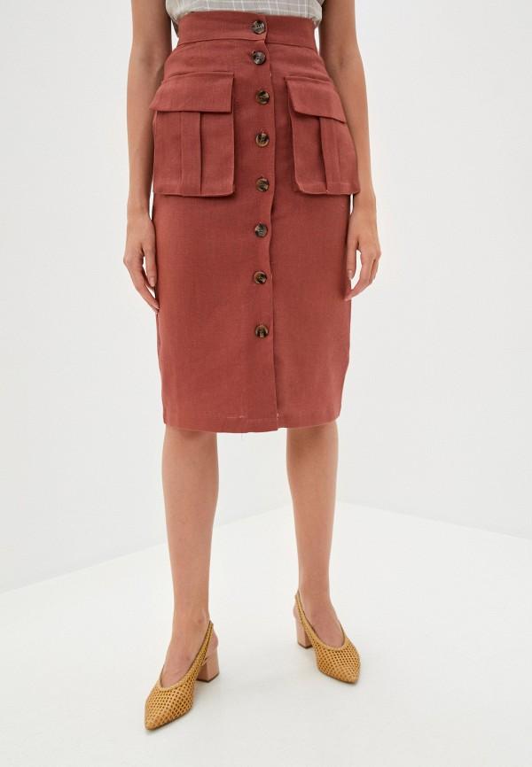 женская прямые юбка b.style, красная