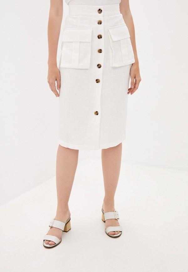 женская прямые юбка b.style, белая