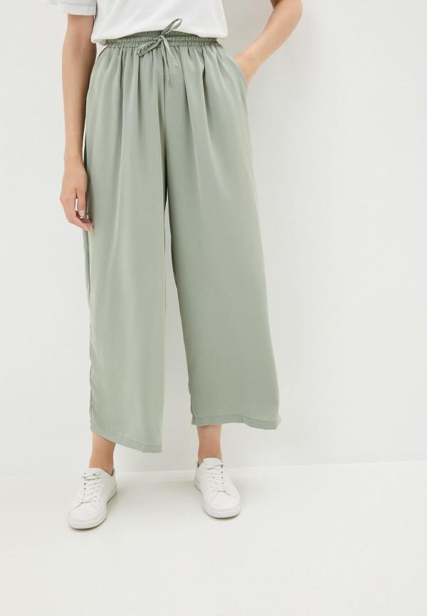 женские повседневные брюки b.style, зеленые