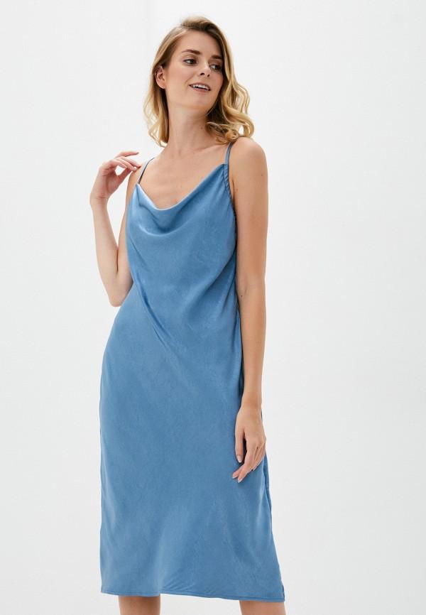женское платье b.style, голубое
