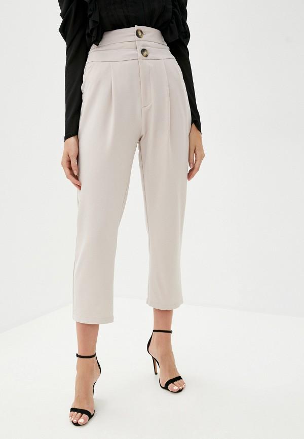 женские повседневные брюки b.style, бежевые