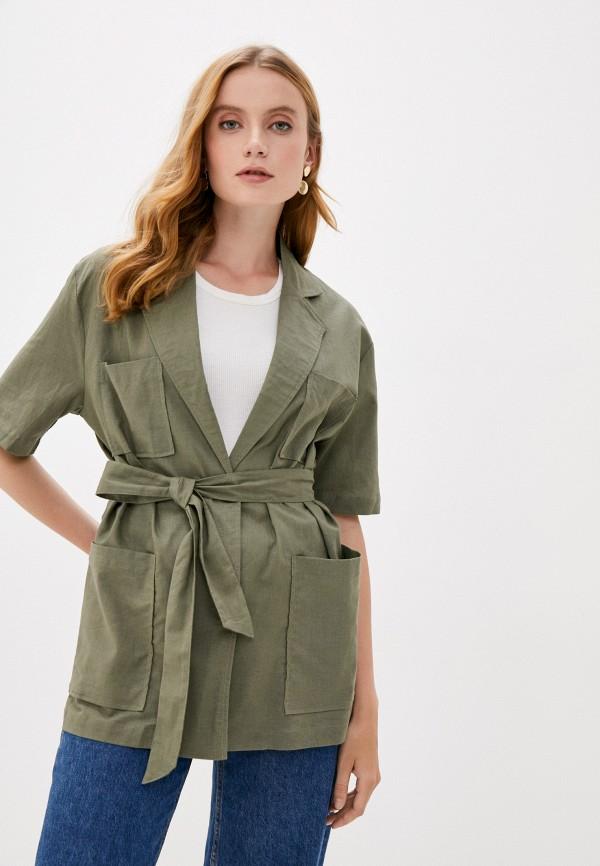 женская рубашка с коротким рукавом b.style, хаки