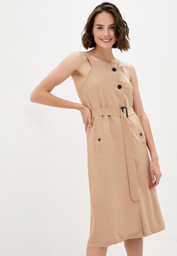 женское повседневные платье b.style, бежевое