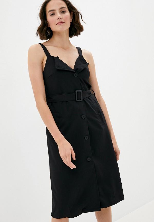 женское повседневные платье b.style, черное