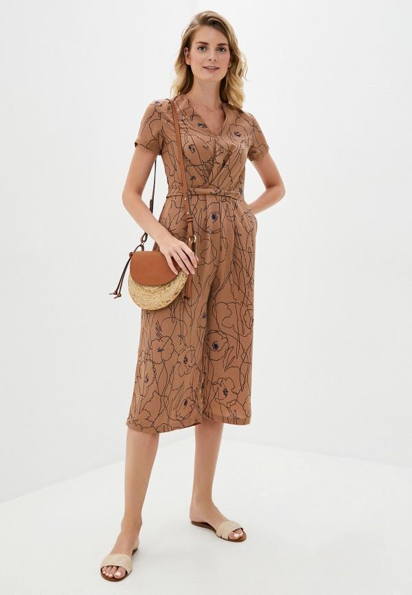 женский комбинезон b.style, коричневый