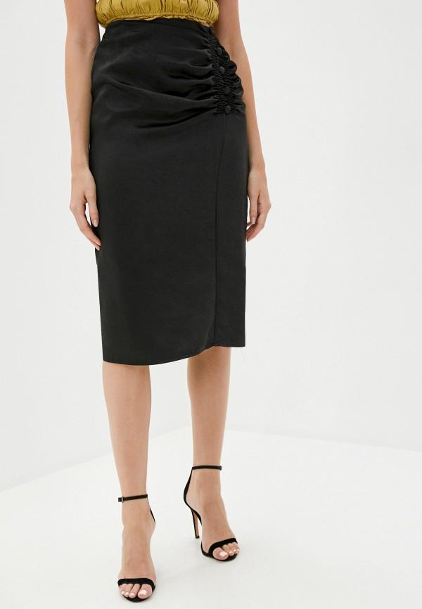 женская прямые юбка b.style, черная