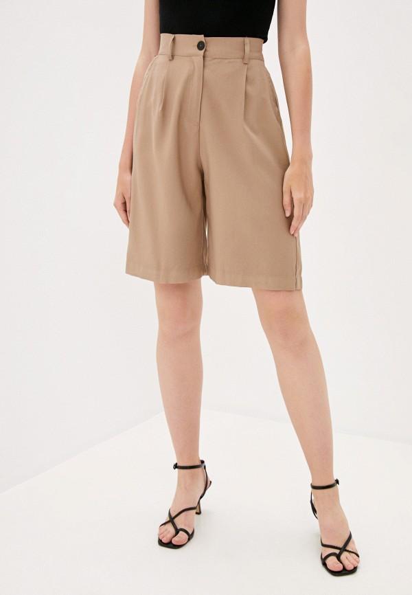 женские повседневные шорты b.style, бежевые